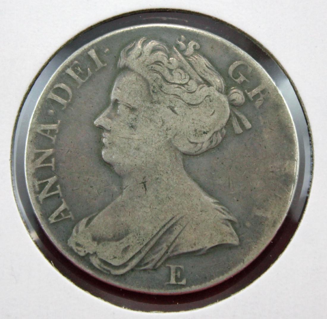 1707-E Great Britain Crown, Queen Anne