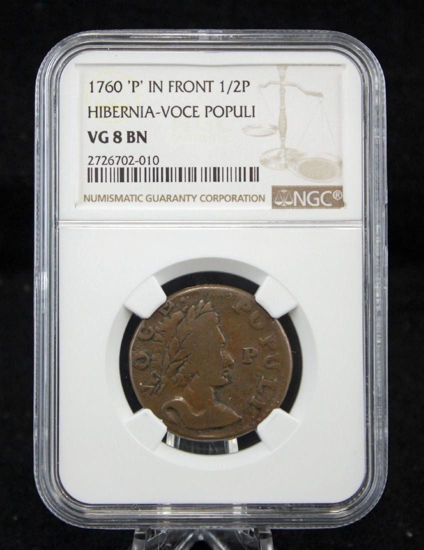 1760 Hibernia - Voce Populi Half Penny