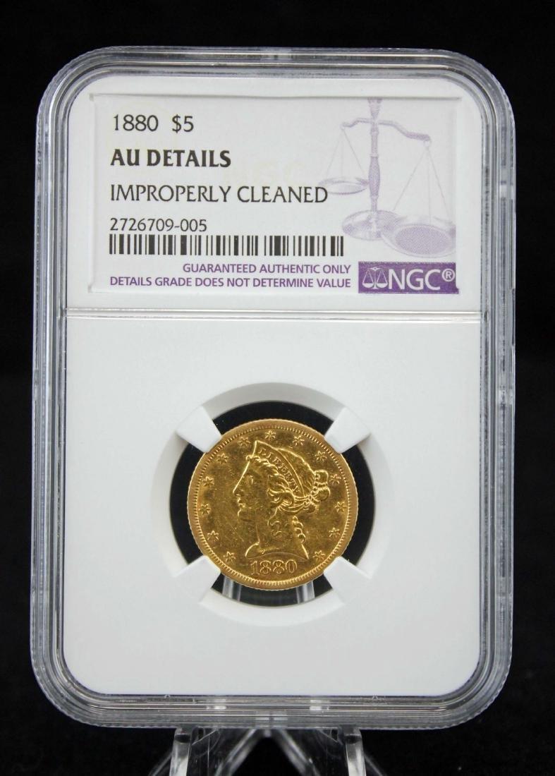 1880 U. S. Five Dollar Gold Coin