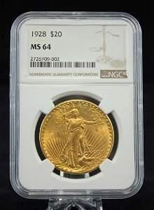 1928 U. S. Twenty Dollar Gold Coin