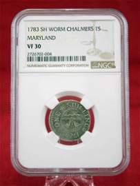 1783 Short Worm John Chalmers 1 Shilling