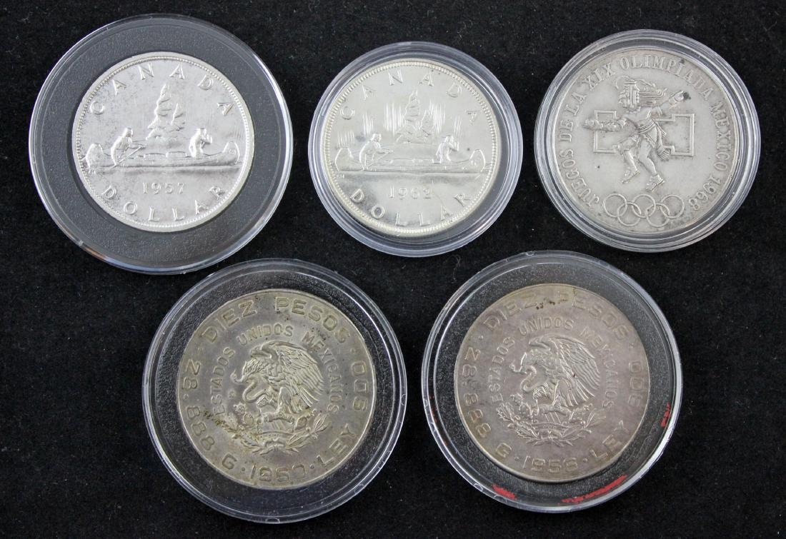 Group of Five (5) World Silver Crowns