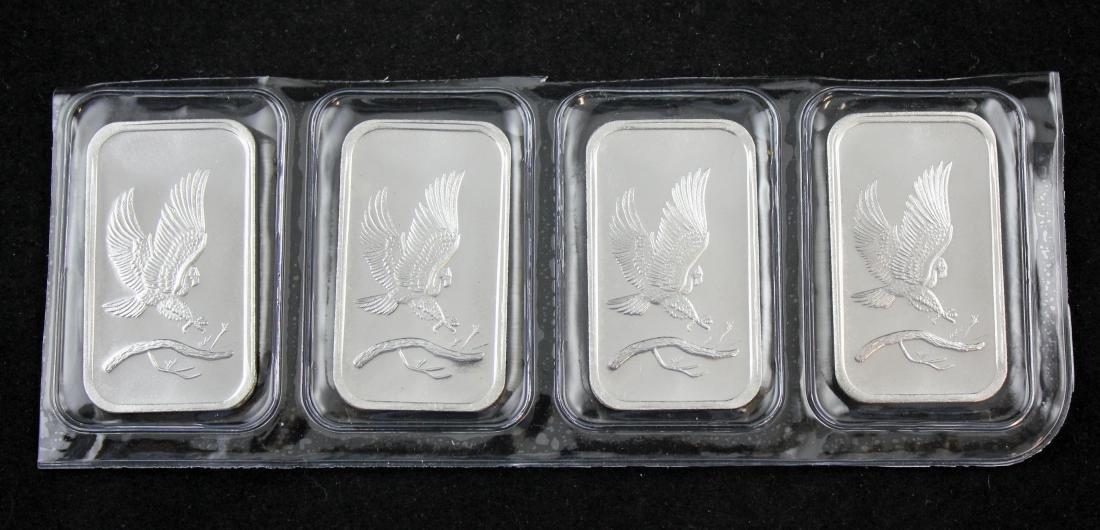 Four (4) one ounce .999 silver bars