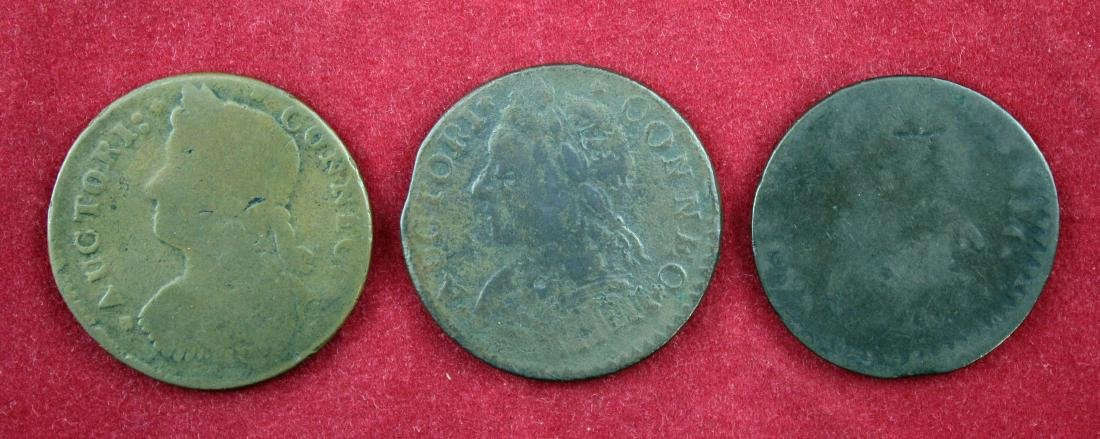 1787 Group of Three (3) Connecticut Coppers