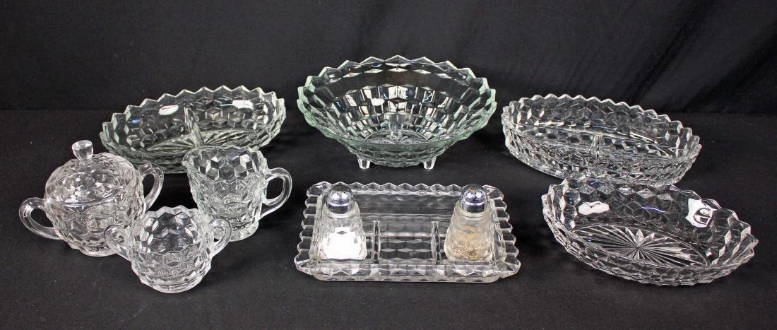 10 Pcs. Fostoria American Pattern Glassware