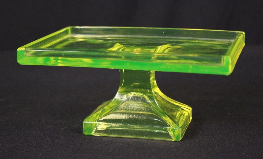 Clark's Teaberry Gum Vaseline Glass Display Stand