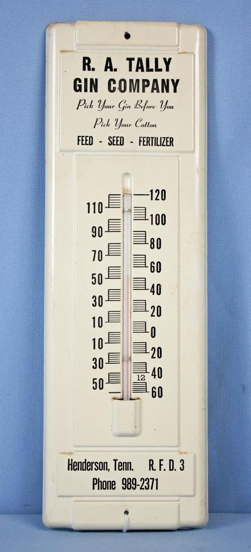 R. A. Tally Gin Co. Thermometer Henderson, TN.