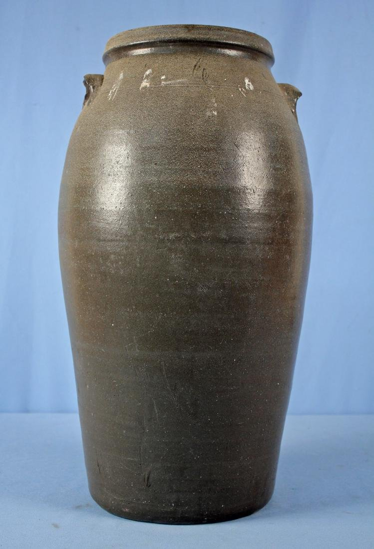 Gray Stoneware 6 Gal. Crock Attributed to Lafever