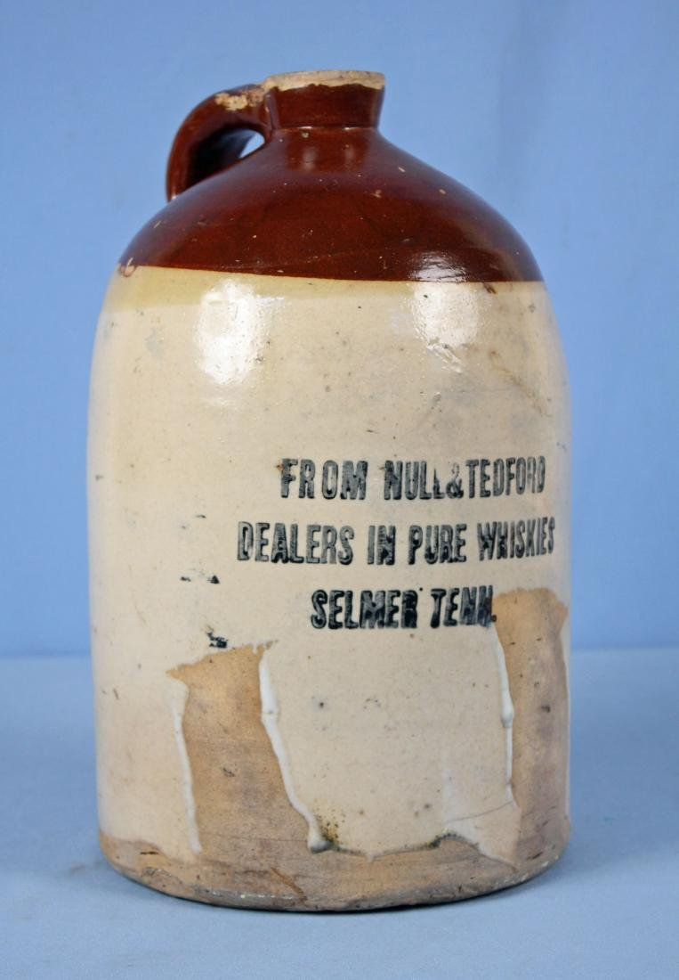 2 Gallon Null & Tedford Whisky Jug, Selmer, TN