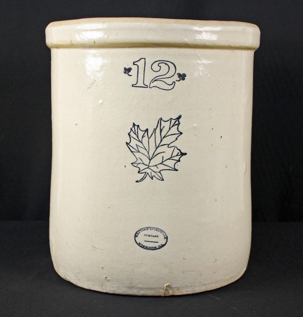 Western Stoneware 12 Gallon Crock Mammouth, IL.