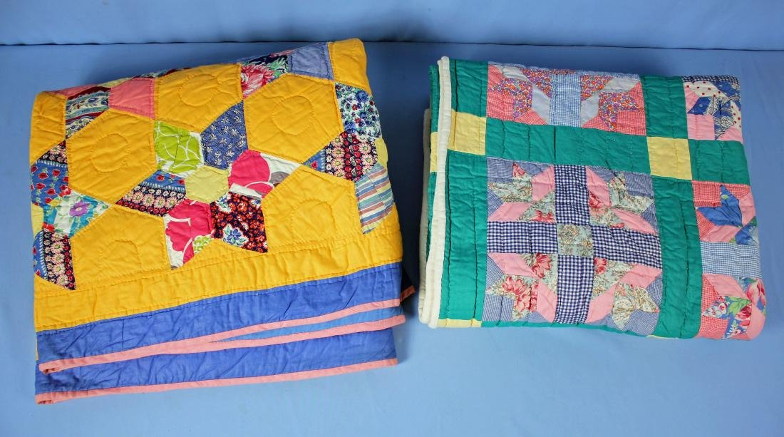 Two Multi Color Tennessee Handmade Quilts
