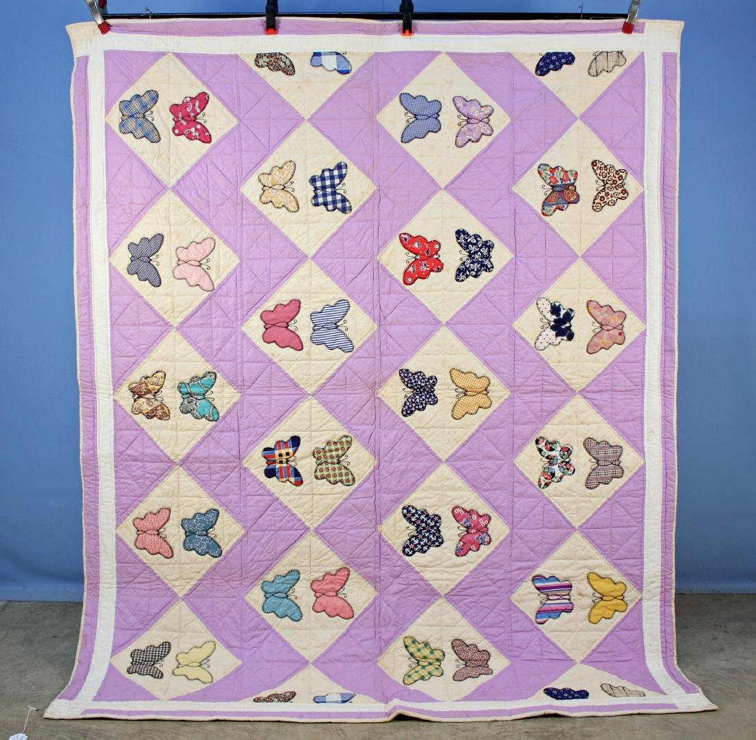 Handmade Tennessee Multicolor Butterfly Quilt