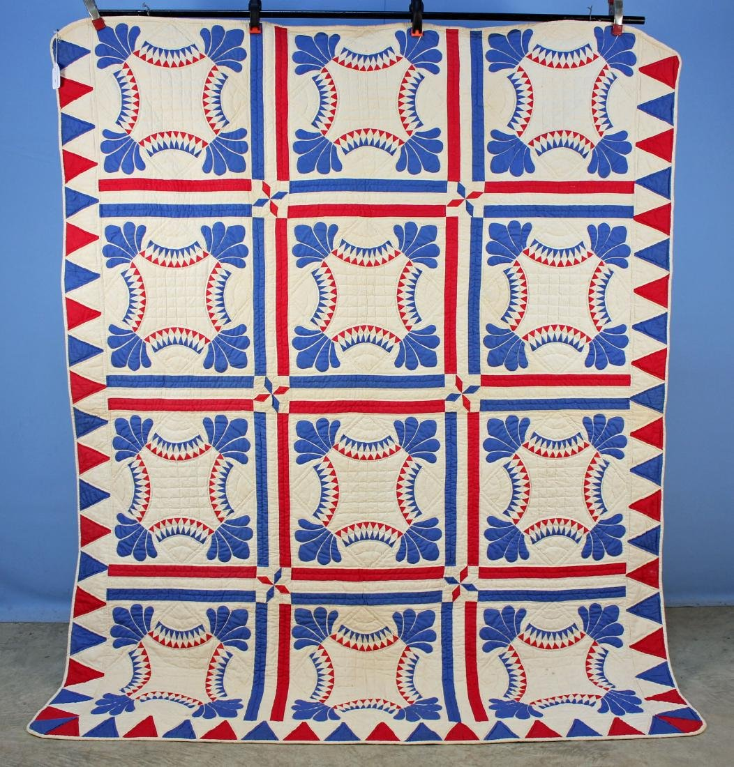 Tennessee Red White and Blue Handmade Quilt
