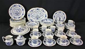 64 Pcs. Kensington Staffordshire Blue Onion China