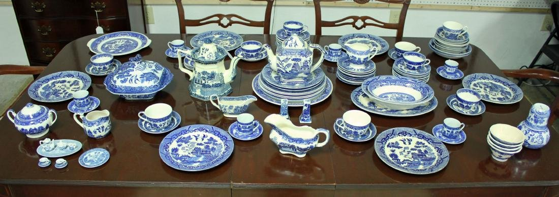 Mixed Group of 100 Pieces + Blue Willow China