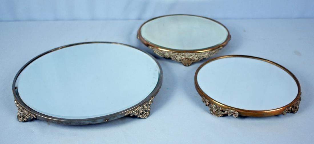 Group Of 3 Plateau Mirrors