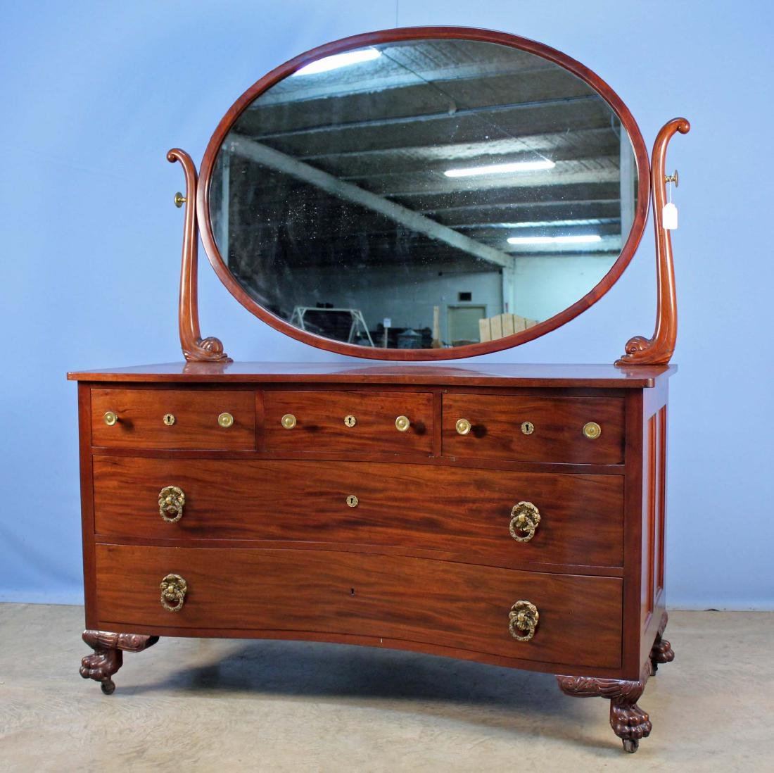 Tobey Furniture Co. Mahogany Bow Front Dresser