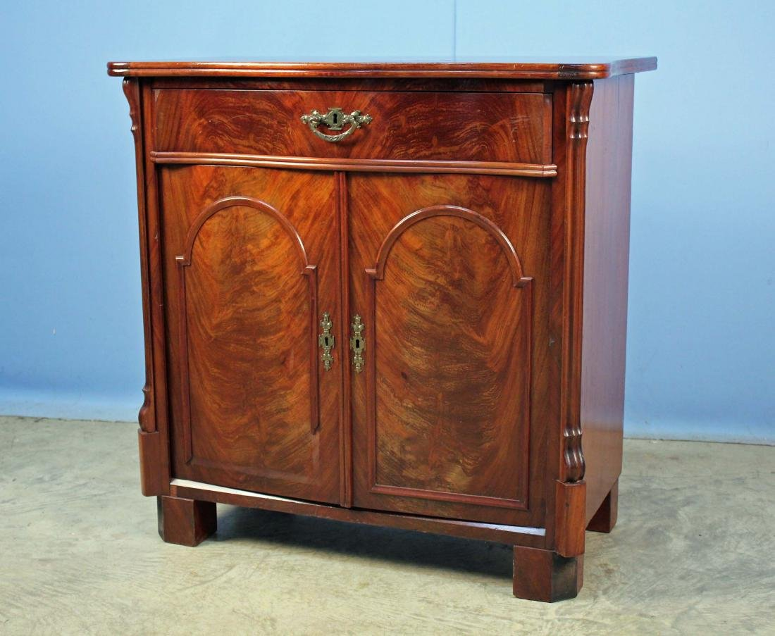 Crotch Mahogany Empire Washstand, Circa 1835