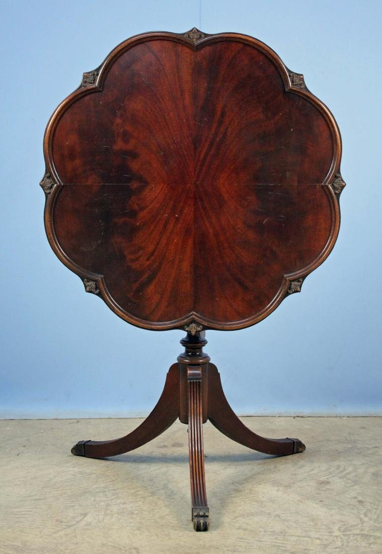 Mid 20th C. Mahogany Tilt-Top Tea Table