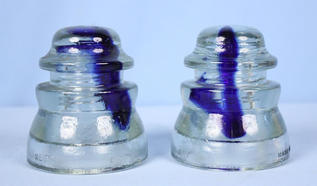 Pair of Rare Kerr Glass Insulators C. 1972