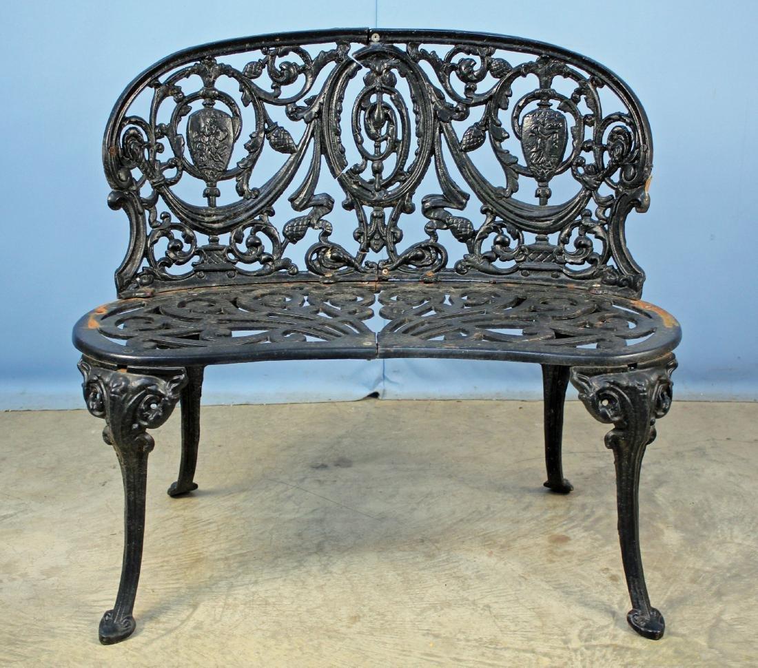 20th Century Cast Iron Garden Bench