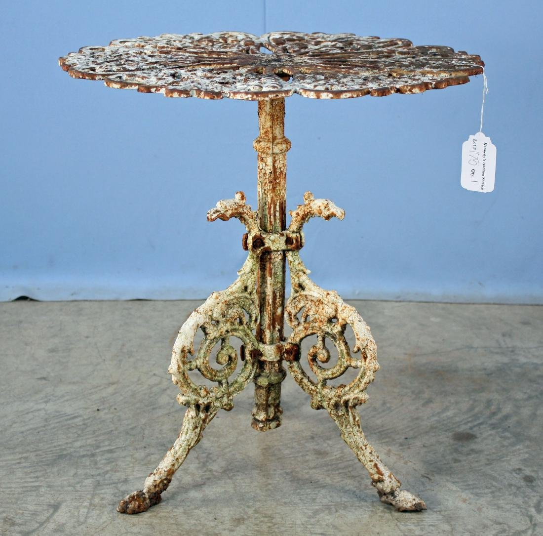 Cast Iron Garden Table W/ Grapes & Dragons