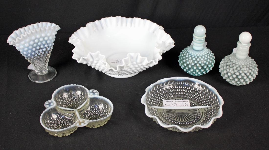 6 Pcs. Hobnail Glassware Fenton / Anchor Hocking