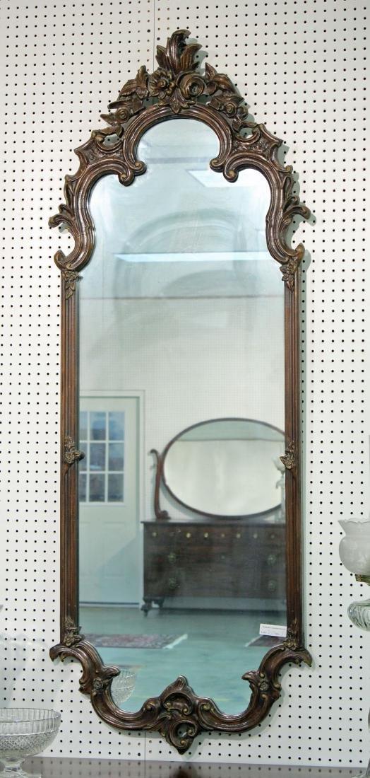 C. 1930 Gesso & Wood Wall Mirror