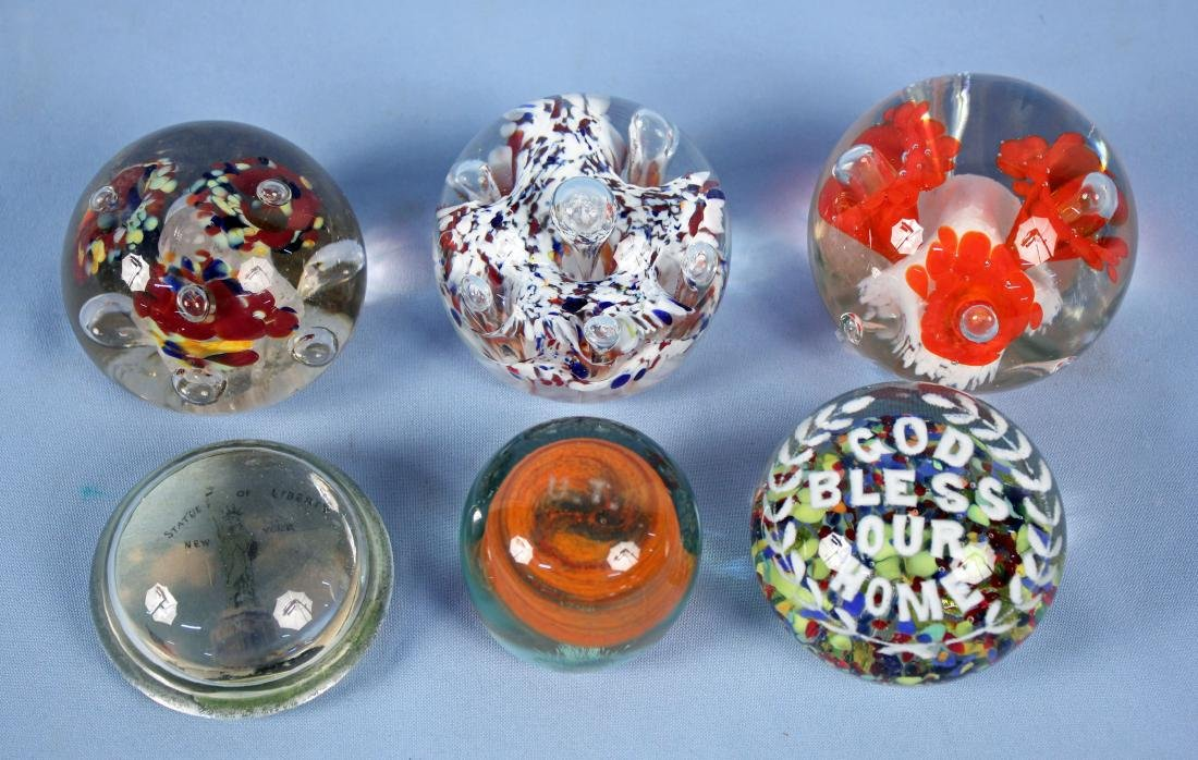 Group 6 Glass Paperweights