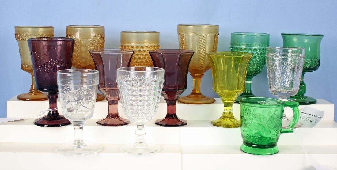 14 Pcs. Assorted Glassware Mostly L G Wright