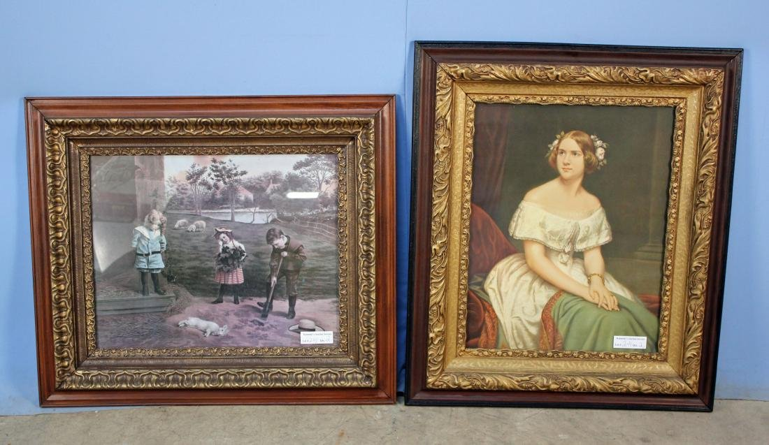 """Two 16"""" x 20"""" C. 1900 Picture Frames"""