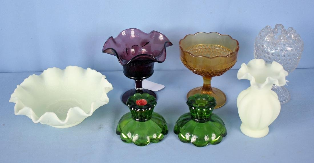 7 Pcs. of Glassware Incl. Fenton / Hobbs