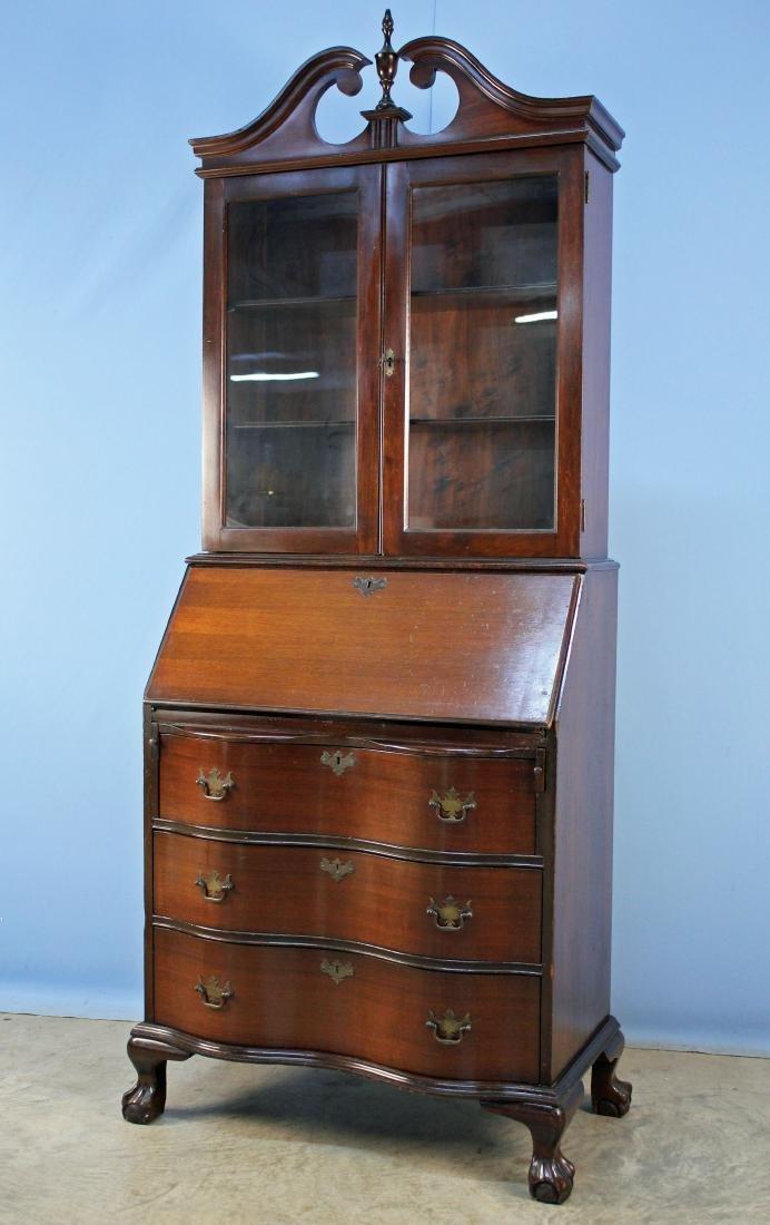 Mahogany Claw Foot Secretary Desk