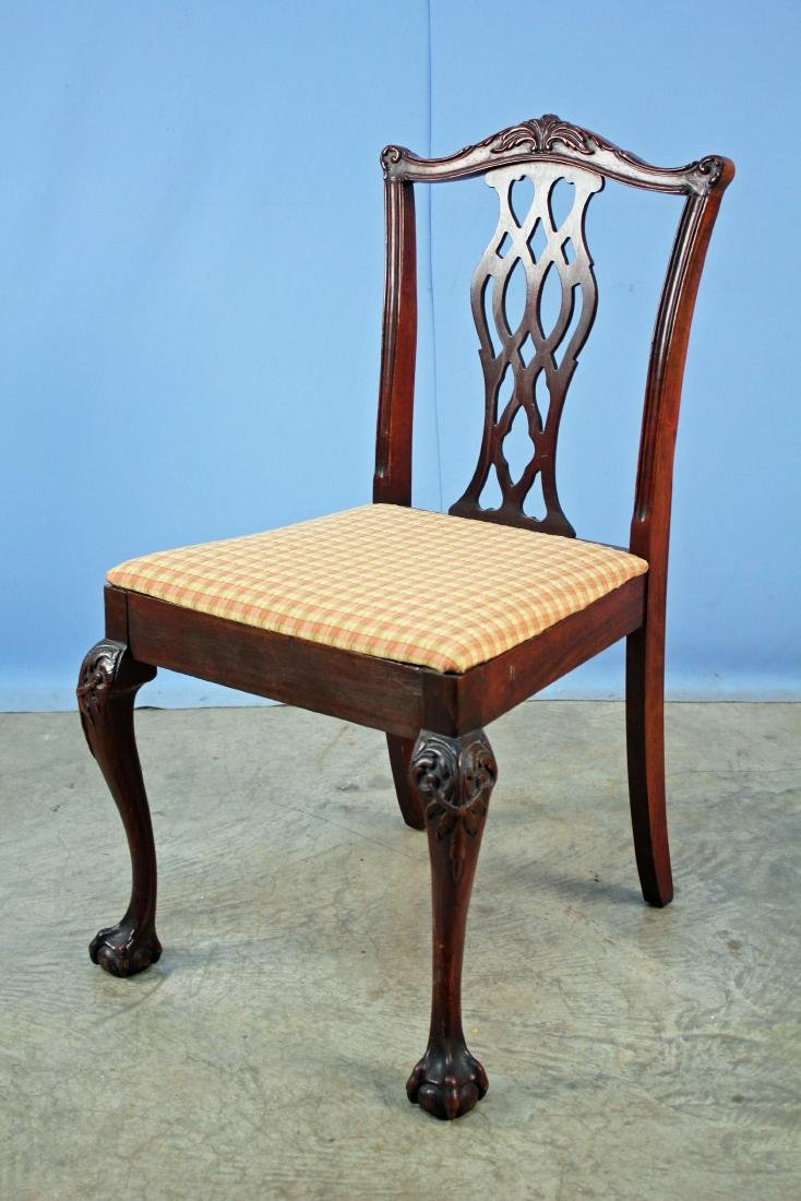 Mahogany Chippendale Style Side Chair
