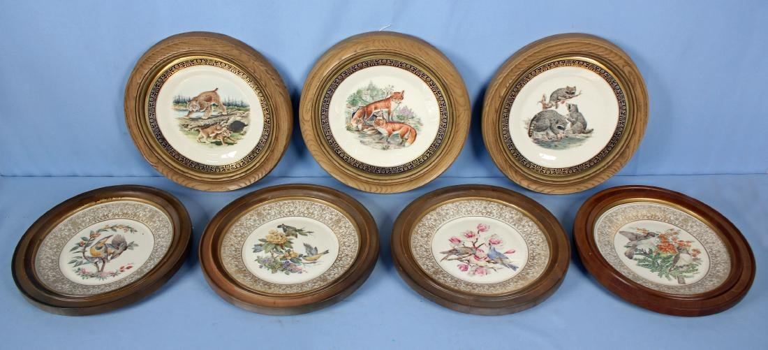 Group of 7 Boehm Lenox China Bird / Animal Plates
