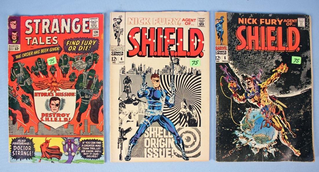3 Nick Fury Comic Books
