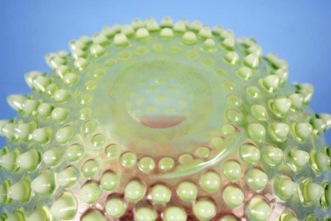 Hobbs Rubina Verde Opalescent Cranberry Pitcher - 5