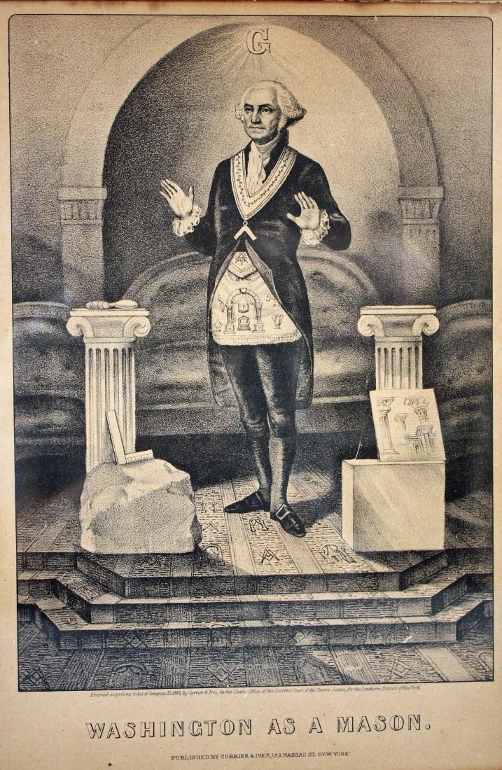 Currier & Ivies 1868 George Washington Mason Print - 2