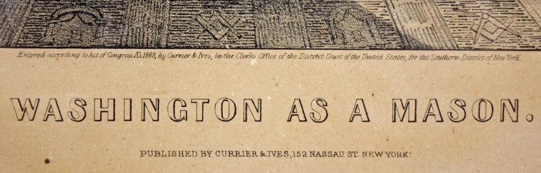 Currier & Ivies 1868 George Washington Mason Print - 4