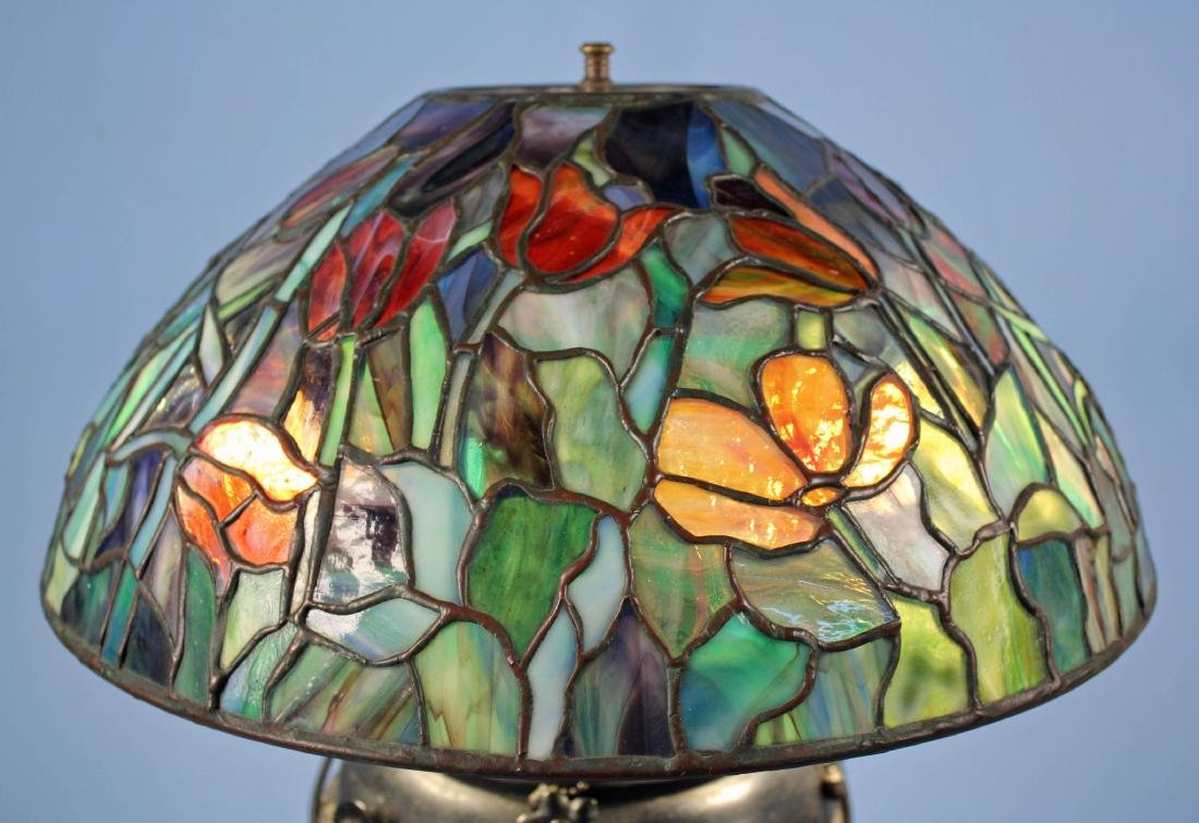 "Tiffany Studios Tulip Lamp Shade 16""  Diameter - 5"