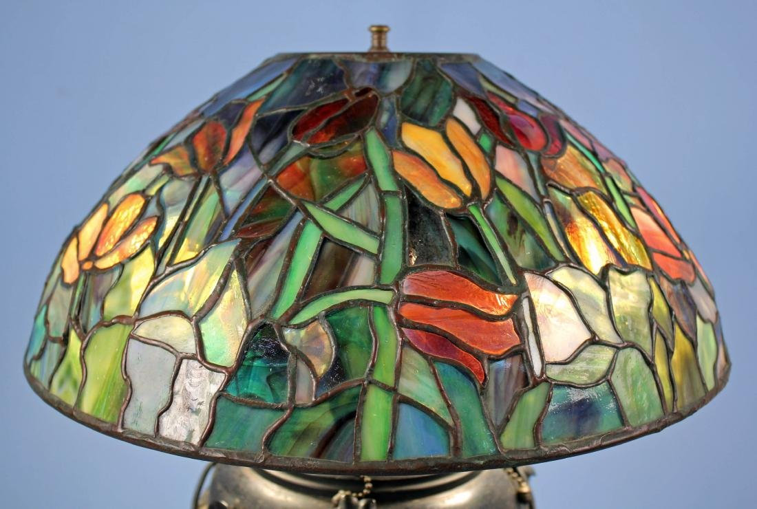"Tiffany Studios Tulip Lamp Shade 16""  Diameter - 6"