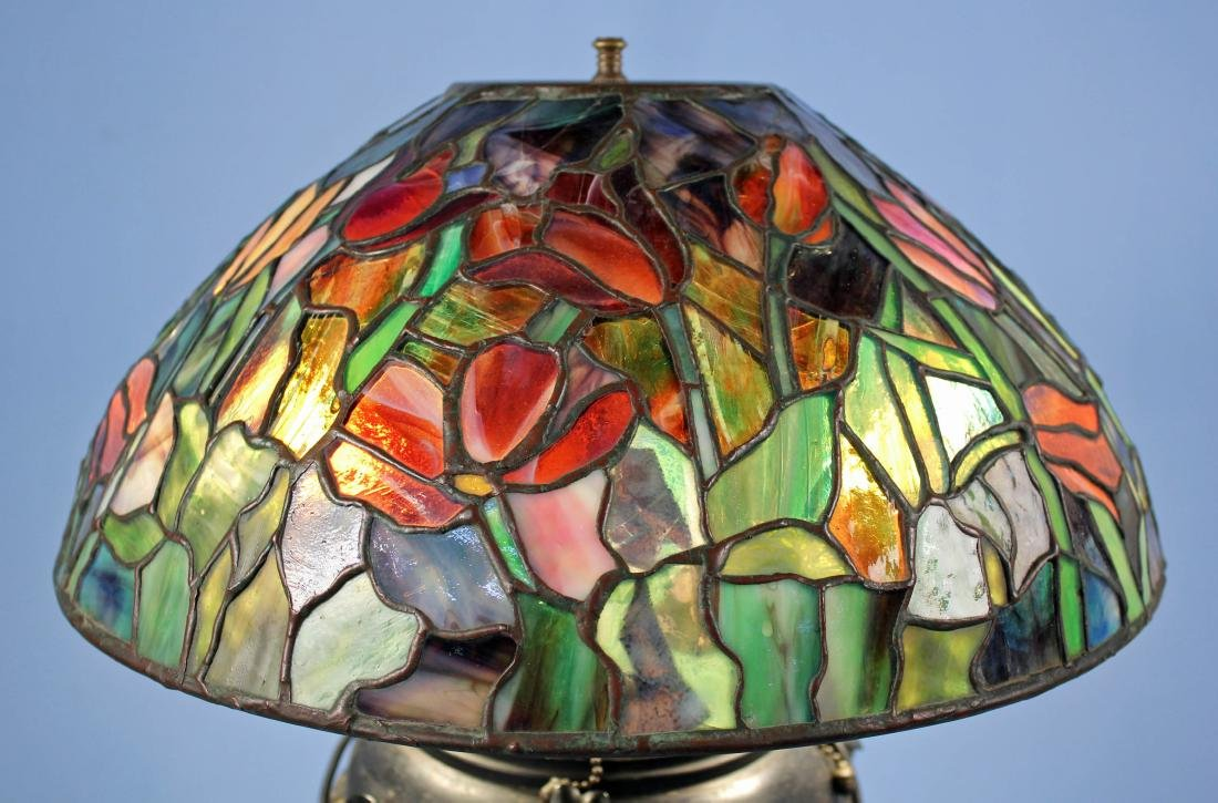 "Tiffany Studios Tulip Lamp Shade 16""  Diameter - 7"
