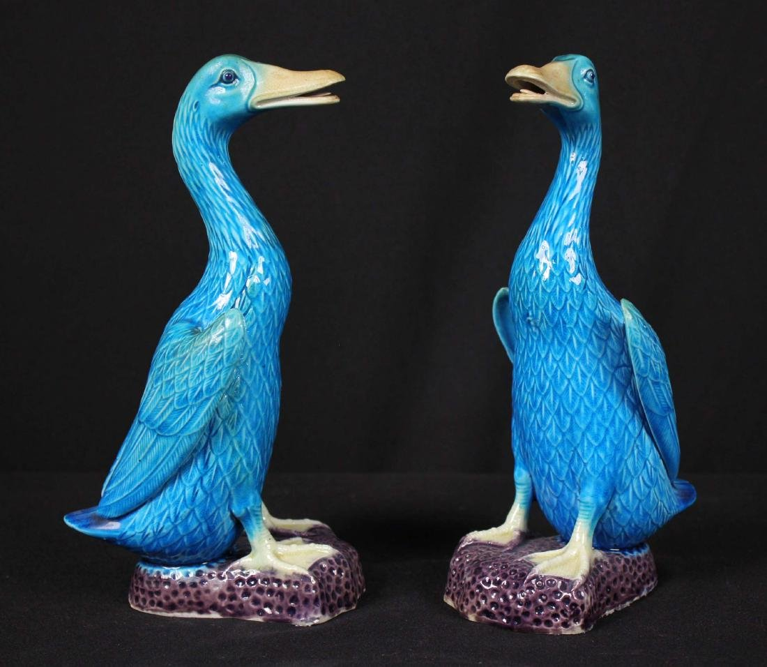 Pr. Chinese Republic Period Turquoise Glazed Ducks