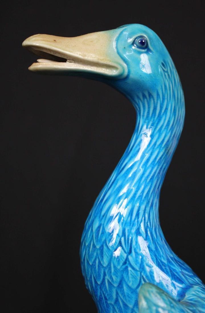 Pr. Chinese Republic Period Turquoise Glazed Ducks - 2