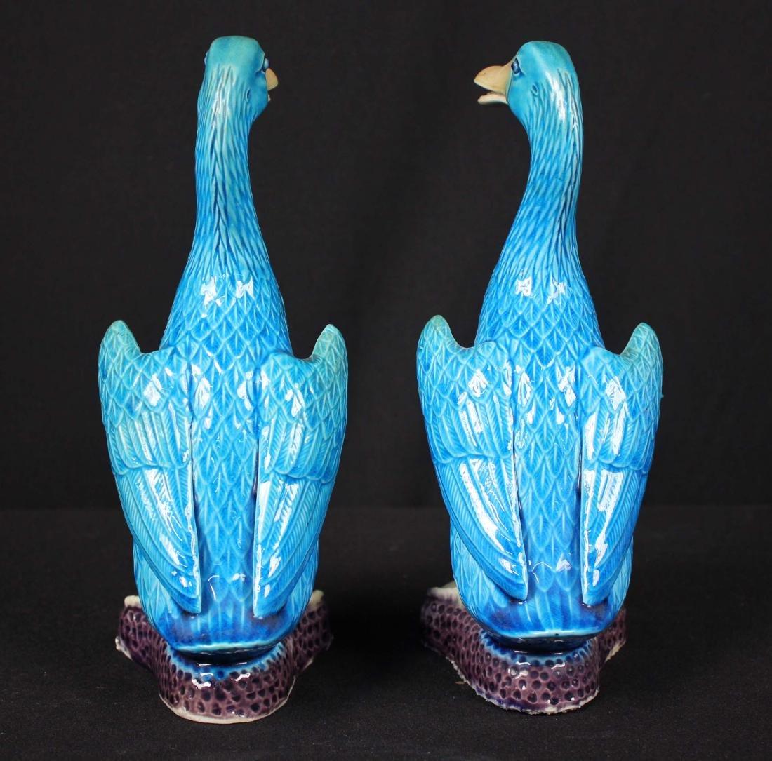Pr. Chinese Republic Period Turquoise Glazed Ducks - 4