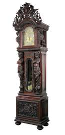 R.J. Horner Mahogany Grandfather Clock