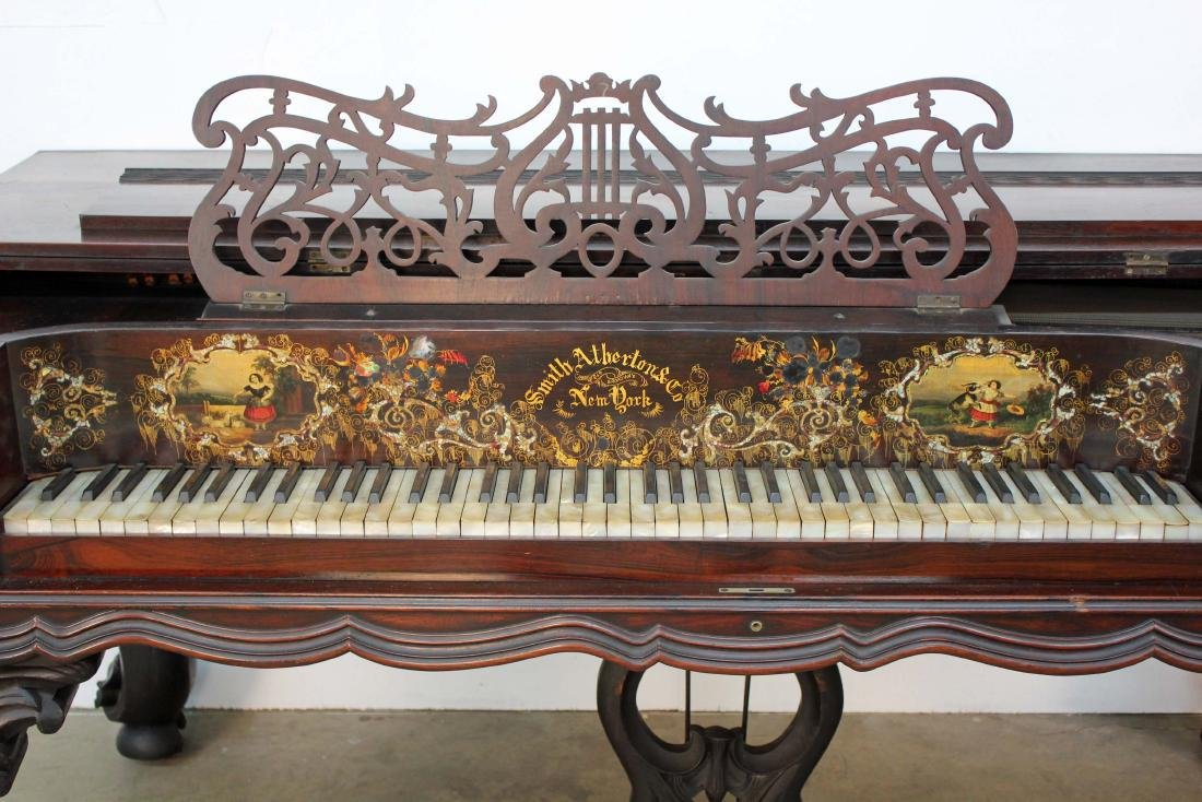 Smith and Atherton Rosewood Grand Piano C. 1860 - 2