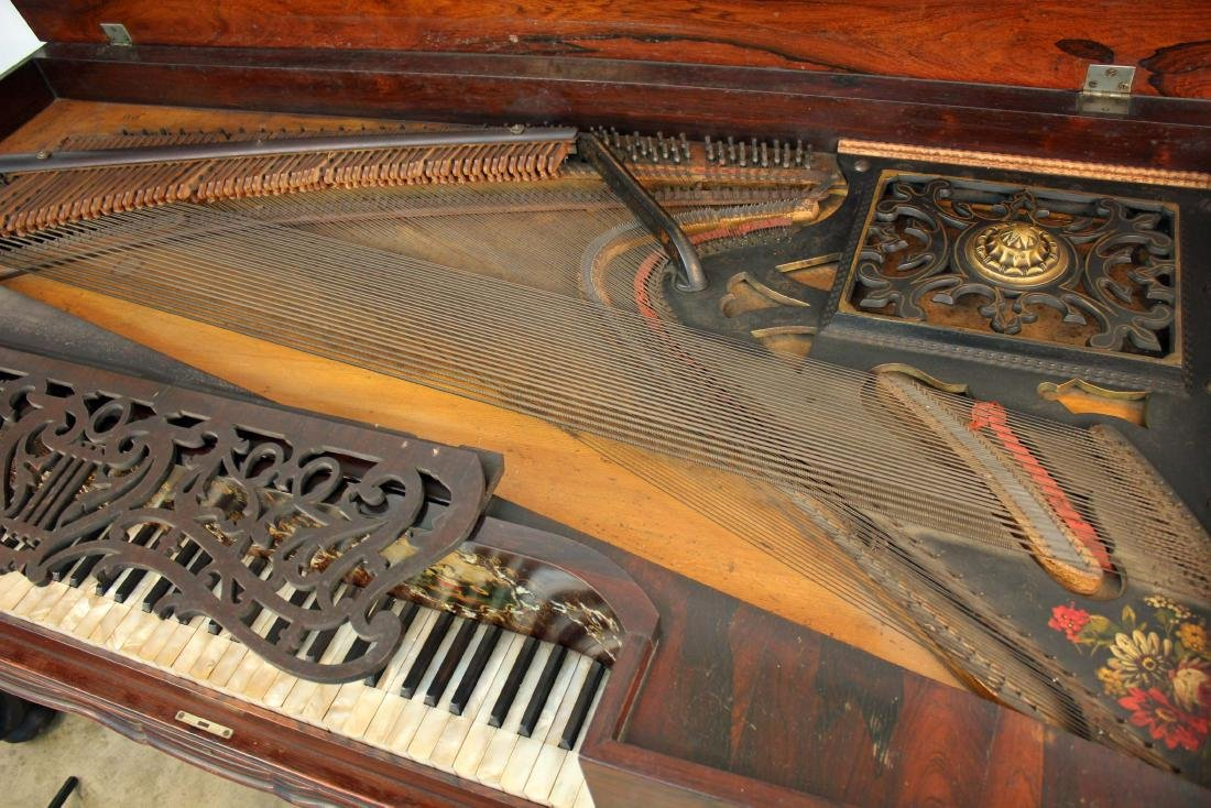 Smith and Atherton Rosewood Grand Piano C. 1860 - 9