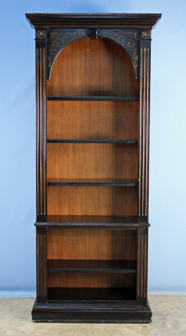 Hooker 5 Shelf Bookcase in Antique Dark Finish