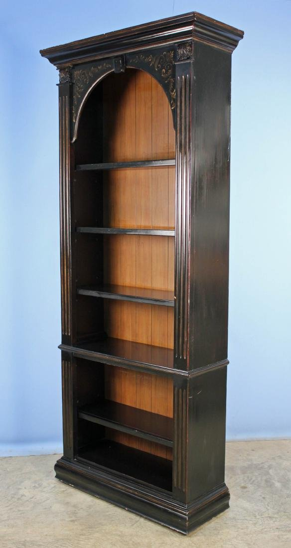 Hooker 5 Shelf Bookcase in Antique Dark Finish - 3